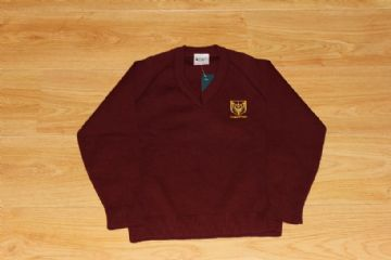 Chingford Maroon V-Neck Jumper